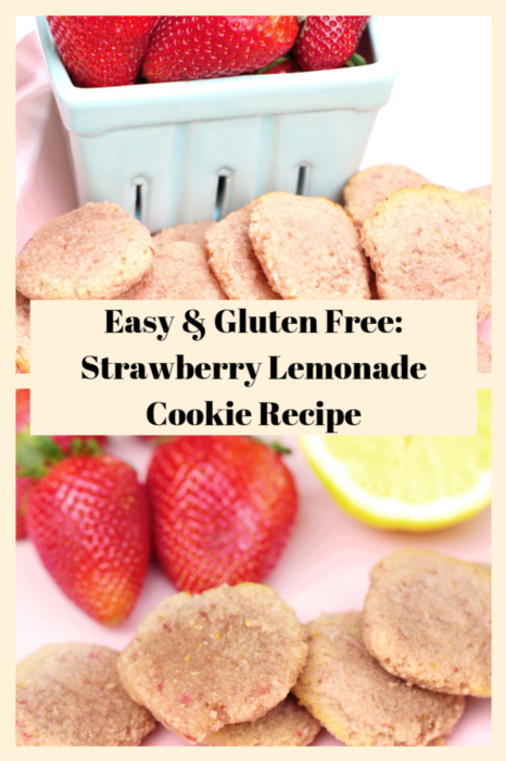 ​ This simple to make strawberry and lemon cookie recipe is gluten free and paleo! ​