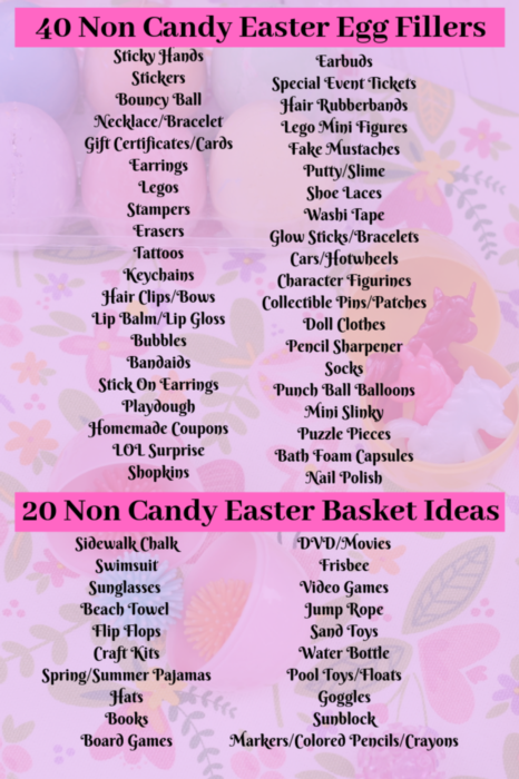 Fun and unique Easter egg and basket filler ideas