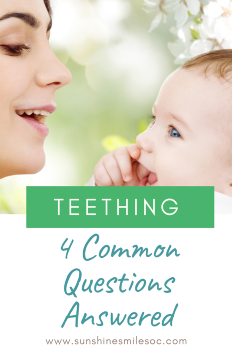 Teething facts and wisdom from both a dentist's and mother's perspective