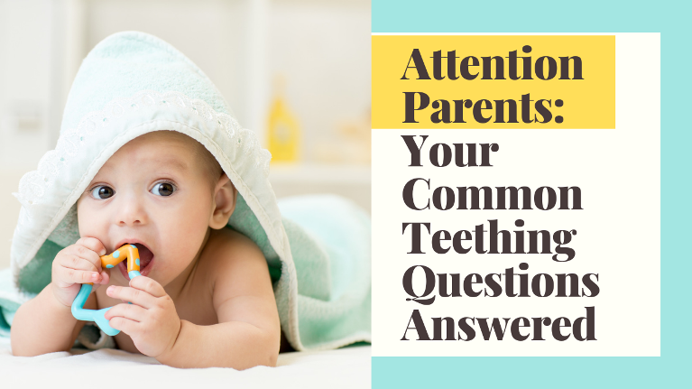 Answering some of the most common teething questions - runny nose, sequence, evening pain and more!
