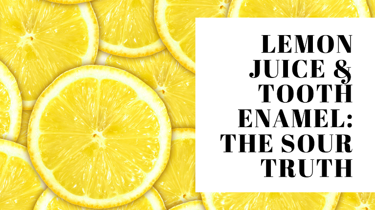 Lemon juice can affect and dissolve tooth enamel causing cavities and sensitivity, here's why.