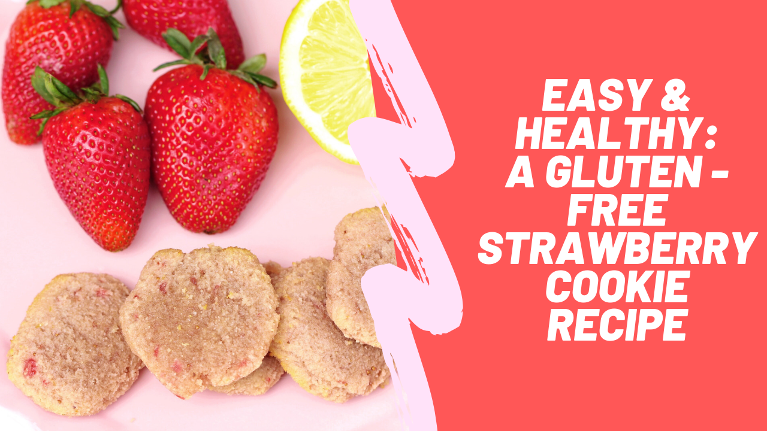 Try out this easy strawberry lemonade cookie recipe that is both gluten free and paleo and so tasty!